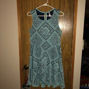 Size large light blue fit and flare dress